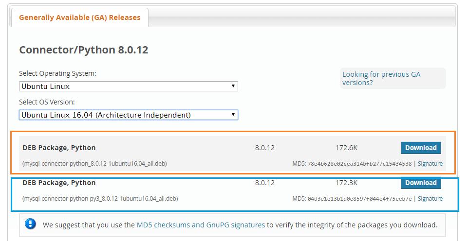 install MySQL connector python on Ubuntu