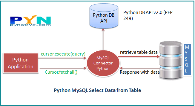 python select from MySQL Table