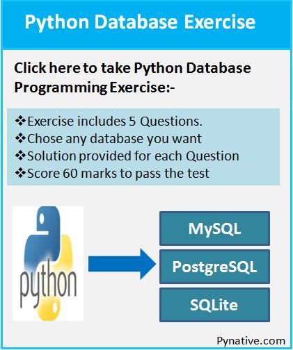 Python Database Programming Exercise