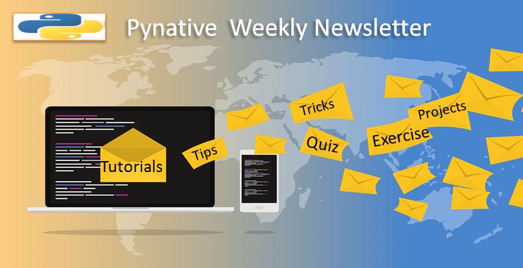 Pynative Newsletter