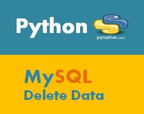 Python MySQL Delete Data