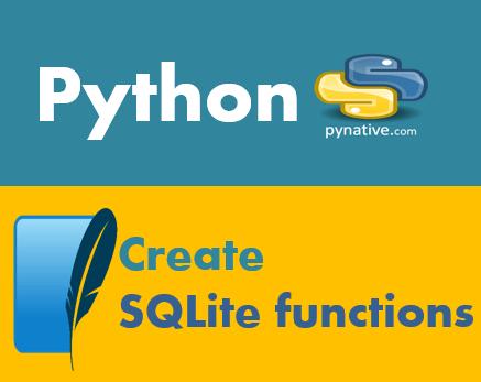 Python create SQLite function