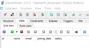 sqlitedb_developers table
