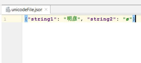 JSON file after writing Unicode data as-is