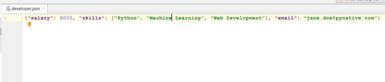 JSON file after skipping on-basic types