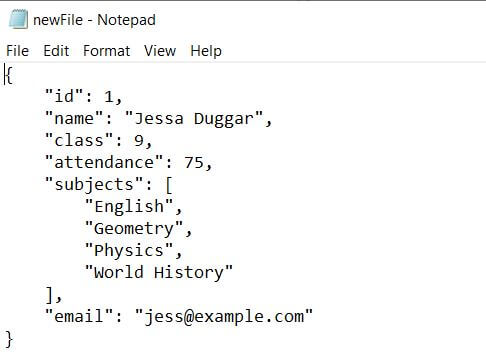 New PrettyPrinted JSON File