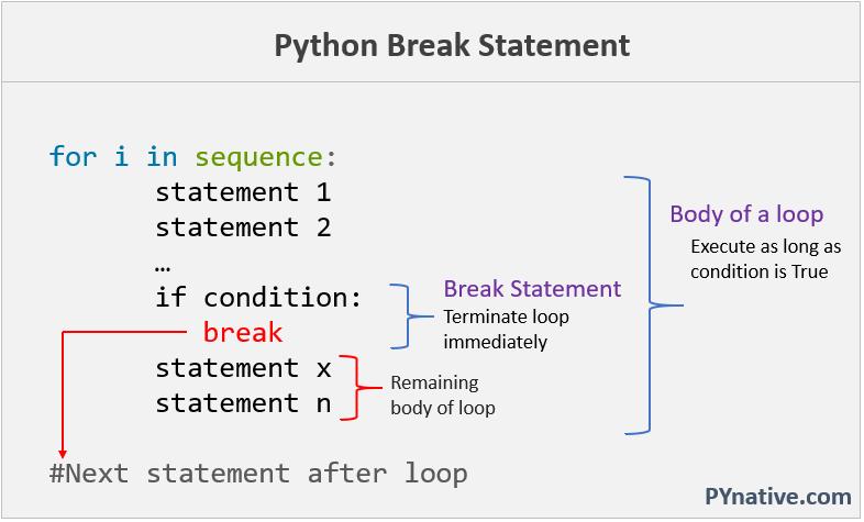 Break loop in Python