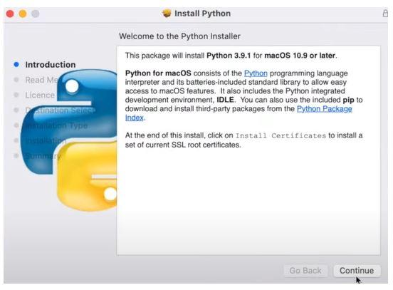 Install Python on MacOs