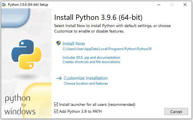 Install Python on windows