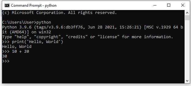 Run Python on command line